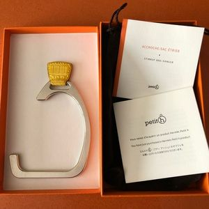 Hermès gator stirrup bag hanger- mimosa